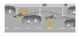 Imagen Bici y circulación no adelantes derecha